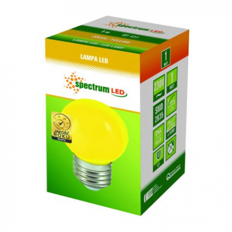 SPECTRUM LED žárovka, 1W, E27, žlutá Spectrum LED WOJ11798